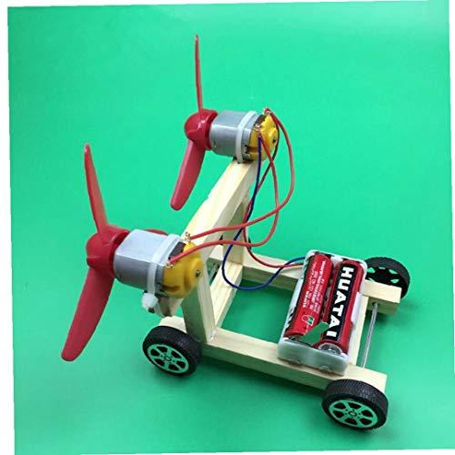 AMOYER Bricolaje energía eólica Kit de Coche eléctrico para niños Experimentos de...