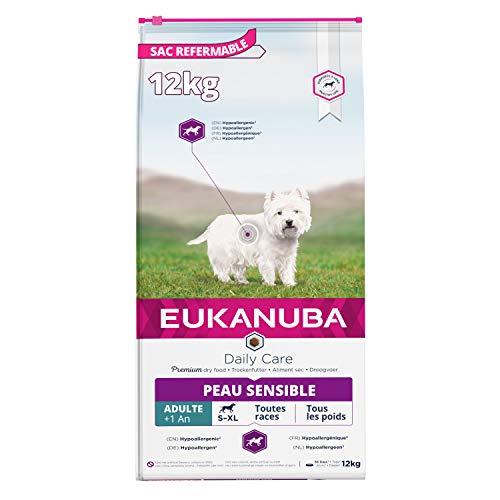 Eukanuba Daily Care Adulte Peau Sensible Pour Toutes Les Races Poisson 12kg
