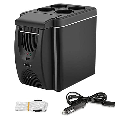 ZCED Enfriador de Coche Portátil de 12V, Refrigerador Eléctrico Portátil Silencioso de 6L para Coche (22 Electric a 65 ℉) para Vehículos, Furgonetas, Camiones, Barcos, Acampadas