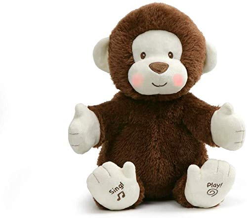 Animated Clappy Monkey Singing and Clapping Plush Stuffed Animal,Appropriate for Ages 0 & up,Brown, 12'