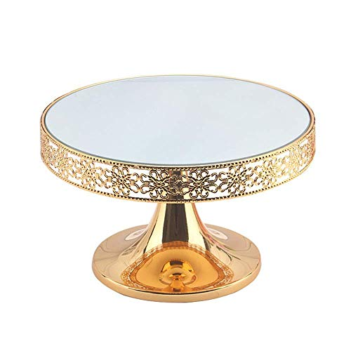 ZGQA-GQA Cake Stand Wedding Party Tableware Wedding Home Decoration Embossing Cake Display Stand (Color : Gold, Size : 31x19cm)