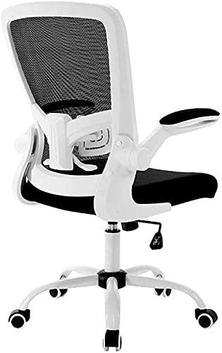 n.g. Wohnzimmerzubehör Computerstuhl Bürostuhl Zeitgenössischer Schreibtisch Erfahrungsmaterialien Five Star Feet Design Verstellbare Armlehnen Kniestuhl Weiß