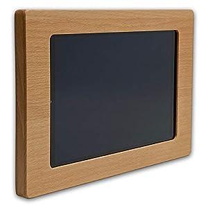 NobleFrames Holz Wandhalter für Samsung Galaxy Tab A 10.1 T510 / T515 (2019) aus Buche | Wohnzimmer | Küche | Büro