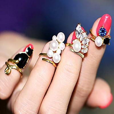 Brishow Anillos de uñas