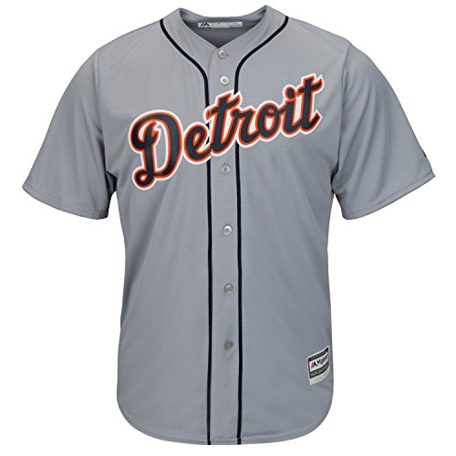 Majestic Detroit Tigers Cool Base MLB Trikot Road Grau M
