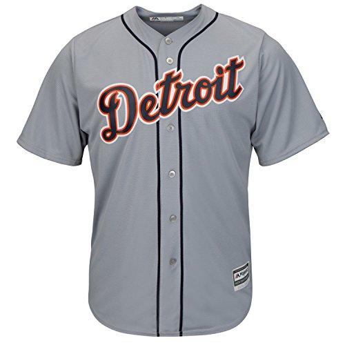 Majestic Detroit Tigers Cool Base MLB Trikot Road Grau M