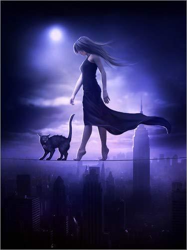 Posterlounge Leinwandbild 70 x 90 cm: Sleepwalker von Elena Dudina - fertiges Wandbild, Bild auf Keilrahmen, Fertigbild auf echter Leinwand, Leinwanddruck