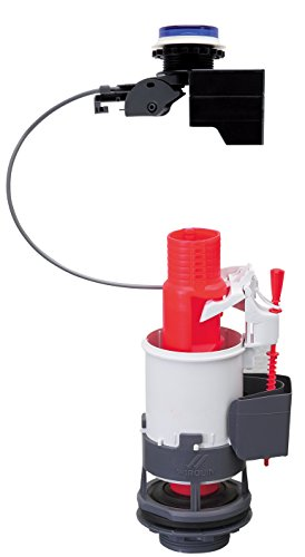 Wirquin 10719338 Mecanisme electronique double chasse, Rouge/Blanc