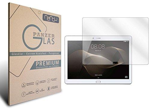 EUC Nandu Tempered Glass kompatibel mit Huawei Mediapad M2 10.0 Echtglas I 2D Cover Glas I9H Festigkeit I Schutzglas I Hartglas I Bildschirmschutzglas