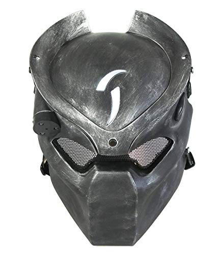 ATAIRSOFT Taktische schützende Paintball Airsoft Metall Mesh Alien und Predator CS Feld Infrarot-Lampe Full Face Maske WorldShopping4U