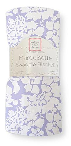 SwaddleDesigns Large Marquisette Receiving Swaddle Blanket for Baby Boys & Girls, Soft Premium Cotton Muslin, Boutique Quality, Best Shower Gift, Lavender Lush, Parent Picks Award Winner