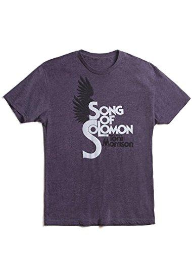 Camiseta masculina clássica literária moderna unissex da Out of Print, Song of Solomon - Vintage Purple, X-Small