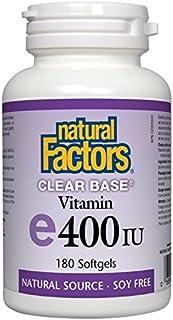 NATURAL FACTORS VIT. E 400Iu Clear Base, 180 Count