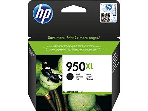 HP 950XL - Cartucho de Tinta para impresoras (Negro, Alto, 41-95 °F, Inyección de Tinta, 10-90%,...