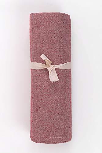 HomeLife - Telo Arredo Copridivano a Tinta Unita – Lenzuolo Copritutto Multiuso in Cotone – Granfoulard Copriletto per Letto Singolo – Made in Italy - [160 X280] Bordeaux
