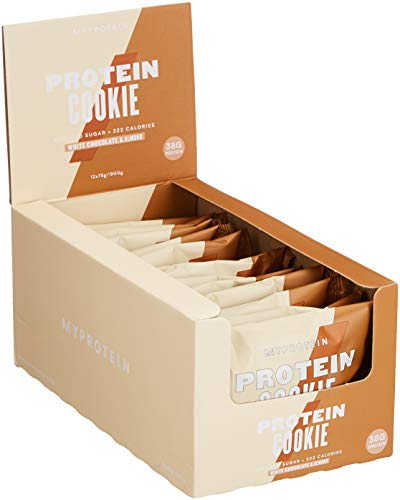 Myprotein Max Protein Cookie Box White Chocolate Almond 12 x 75 g