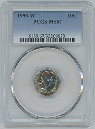 1996 W Roosevelt Dime 10C MS67 PCGS