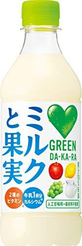 GREEN DA・KA・RA(グリーンダカラ) ミルクと果実 430ml×24本 PET