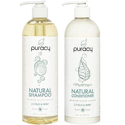 Puracy Shampoo & Conditioner Set, Reformulated, Natural, Plant-Powered, No Silicone, 16 Oz (2-Pack)