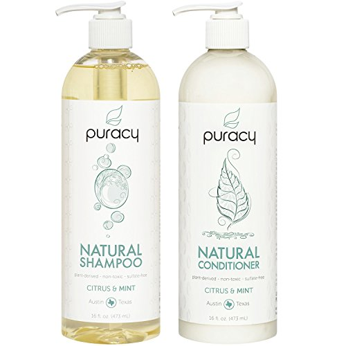 Puracy Natural Shampoo and Conditioner Set With No Harsh Chemicals