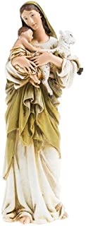 6 Inch Resin Virgin Mary Madonna Lamb Figure Statue Home
