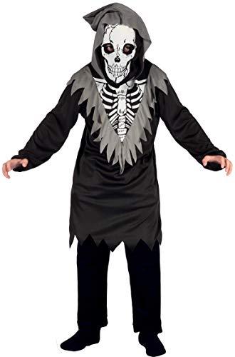 Ciao Costume Skeleton Zombie tg.M (5-7 anni) Bambini unisex, Nero/Bianco, 61059.M