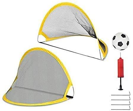 ミニ サッカーゴール 子供 折りたたみ サッカー フットサル 収納ケース サッカー 練習 室内 屋外用 2個セット (小)
