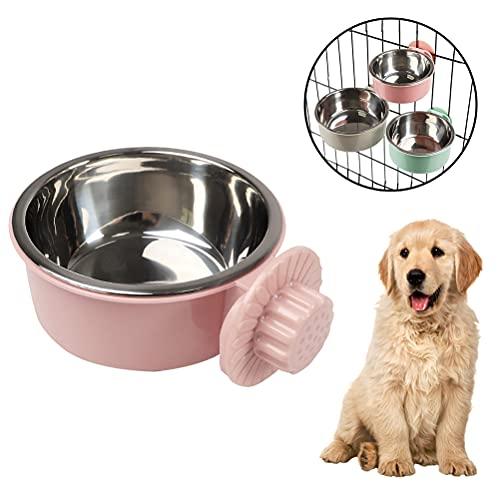 buycheapDG(JP) 犬用ボウル 転倒防止 ペット用ボウル 猫、犬、鳥、マウスに適しています 吊り下げ式 1個 取り外し可能 ステンレス製 ゲージ用 飲食用噴水 ペット食器 s/m/l 固定式犬用ボウル