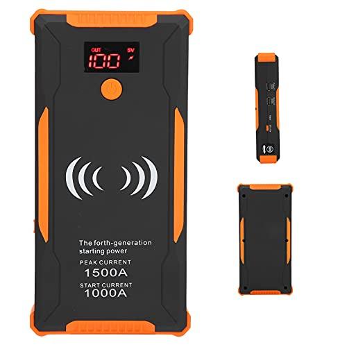Jopwkuin Arrancador del Salto del Coche, Corriente Estable práctica del Banco de la batería del USB para el Encendedor Diesel del vehículo de la Gasolina de 12V