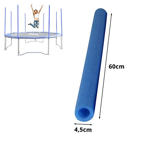 Terena® TW Schaumrollen Set Stangenschutz für Trampolin 244-305 - 366-430 - 460-488 Innenkerndurchm. 25 mm in blau