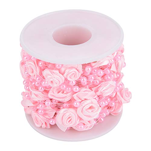 Borlai Rose Artificial Pearl Wire Beads Garland 10m/roll DIY Pearl Bead String for Wedding Party Home Decor