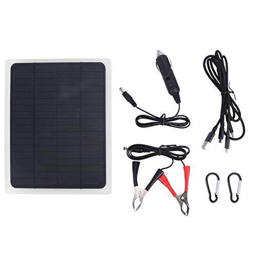 YARNOW 1 Juego de Panel Solar Fotovoltaico de Cristal Único Panel Solar Portátil Panel Solar Cargador Kit para Exterior