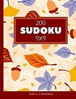 200 Sudoku 9x9 fácil e normal Vol. 8: com soluções e quebra-cabeças bônus
