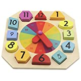 Backbayia Montessori Numbers - Reloj de juguete educativo