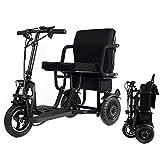 YHXJ Scooters discapacitados, Scooter Eléctrico 3 Ruedas, Motor De 400 W, Batería Extraíble, Fácil De Cargar, Soporta 280 LB De Peso, Solo 58 LB 30km