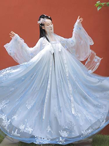 CTDMMJ Hanfu Frauen Kostüm Kostüm Sommer-L_[Yanyutai LAN] 3 Meter schwingende Oberjacke + Jackenrock + großes Ärmelhemd