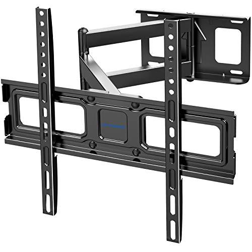 Letsergo TV Wandhalterung, Schwenkbare Neigbare Fernseher Halterung für Flach & Curved 26-55 Zoll Monitor bis zu 45 kg, Max.VESA 400x400mm, mit Ausziehbarem Gelenkarm