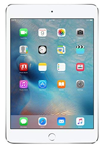 Apple iPad Mini 4 32GB Wi-Fi + Cellular - Silver - Unlocked (Renewed)