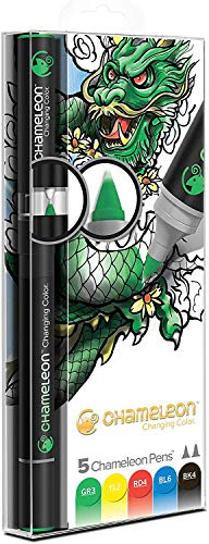 Chameleon Art Products, Chameleon 5-Pen, Primary Tones Set