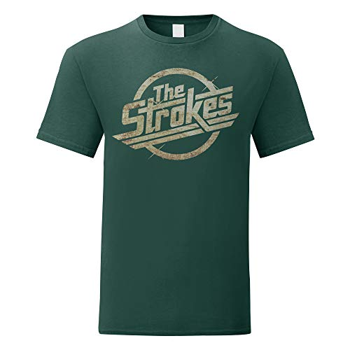 LaMAGLIERIA Camiseta Hombre The Strokes - Grunge Logo t-Shirt Indie Rock 100% algodòn, M, Verde