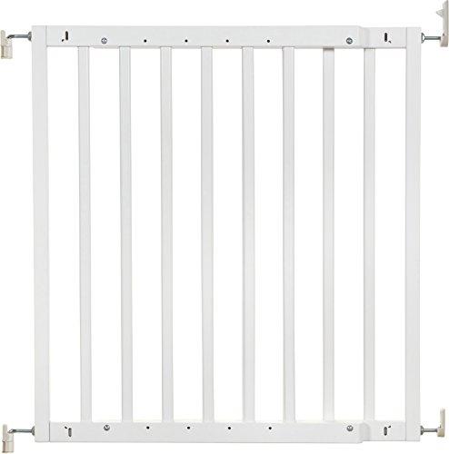 Badabulle Color Pop Treppen-/Türschutzgitter, zum Selbstaufbauen in nur 7 min, flexibel erweiterbar von 63,5 - 103,5 cm, weiß