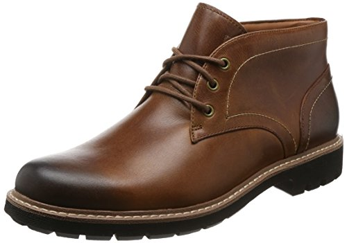 Clarks Batcombe Lo, Stivali Chelsea Uomo, Marrone (Dark Tan Leather), 42 EU