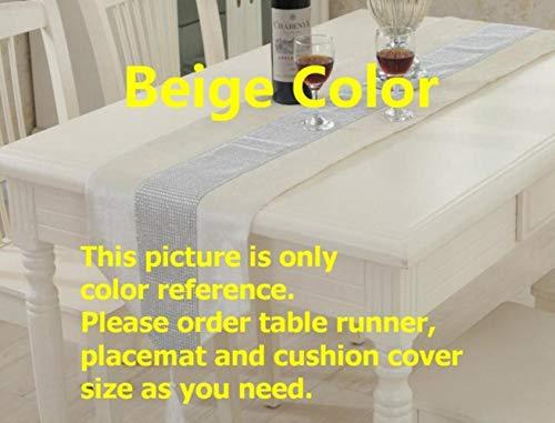EDCV Home tafelkleed Moderne Doek Voor Hotel Bruiloft Kersttaart Rode Champagne Bloemen Flanel Tafelkleed Tafelloper, beige kleur