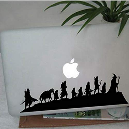 MIDDLE EARTH Fantasy Literature - Caravan - Vinyl Wall Decal Sticker, fantasy movie art cool car laptop wall decor,Color:black,Size:56cm x 16cm (Color : Black, Size : 56cm x 16cm)