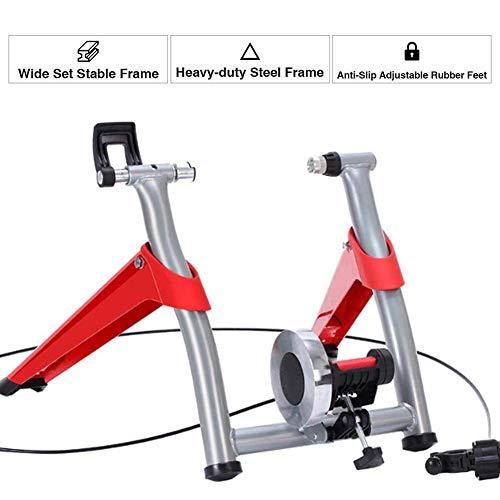 Turbo Trainer Straßentrainingsplattform Drahtgesteuerter Indoor Mountain Variabler Widerstand Indoor Bike Trainer für Straßen Mountainbikes für Straßen- und Mountainbikes Rot