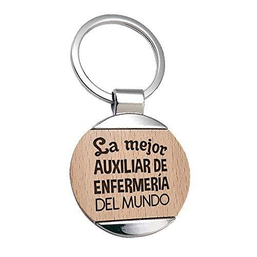 Llavero Auxiliar de Enfermeria La Mejor Auxiliar de...