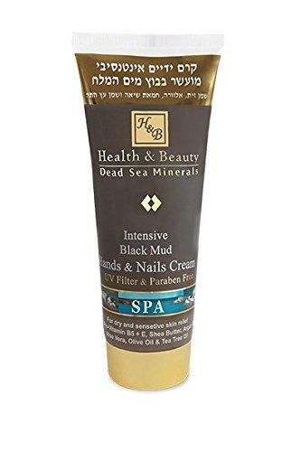 Health&Beauty Dead Sea Minerals - Crema Intensiva para manos y uñas, de barro negro