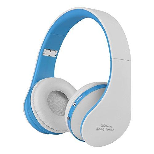 Vbestlife Auriculares de Diadema Plegable Inalámbricos Bluetooth 4.1 Audio de Alta Fidelidad y HiFi, Almohadillias de Protección Cómodo,para Deporte,Juego (Blanco)