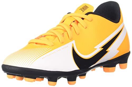 Nike Vapor 13 Club FG/MG, Botas de fútbol Unisex Adulto, Láser de Color Naranja Negro Y Blanco, 35 EU