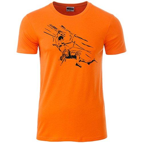 Klettershirt Herren Premium Bio T-Shirt Klettern #6 M orange